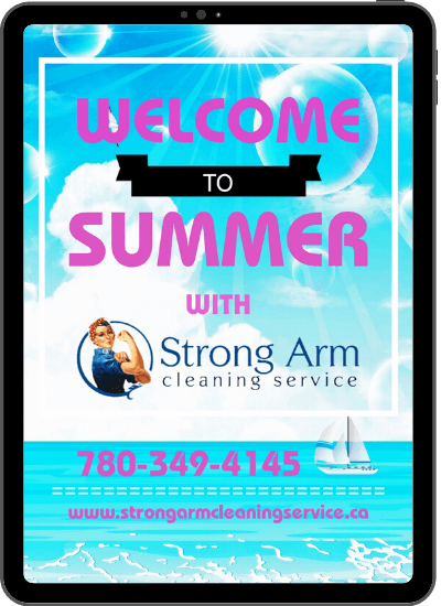 Poster design for Strong Arm Cleaning Service.